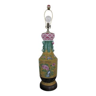 Large Scale Vintage Chinese Porcelain Lamp