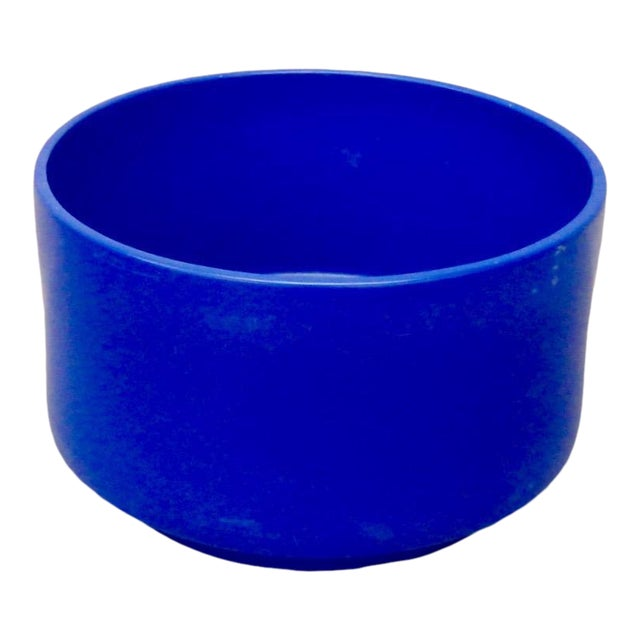 Rare Large Size Blue Glaze Gainey California Planter Pot For Sale