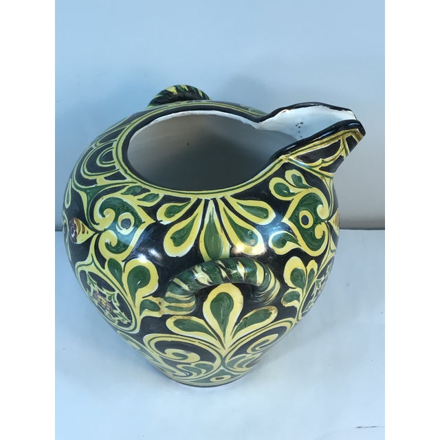 Antique 19th C. Cantagalli Deruta Italy Pottery Urn Vase For Sale - Image 4 of 13