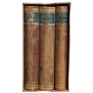 "1914 ""Narrative Writings of Arthur Von Schnitzler 3 Vols. In Slipcase"" Collectible Book For Sale"