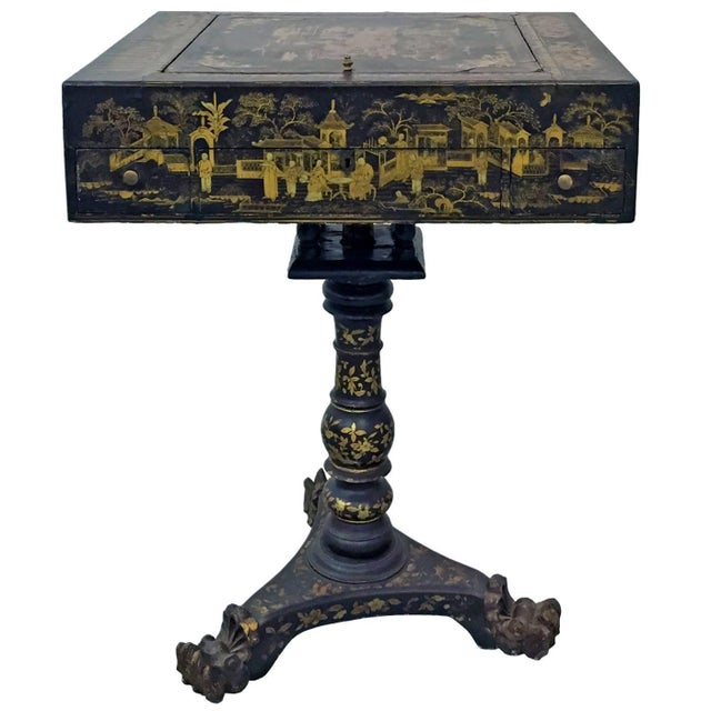 19th Century French Napoleon III Chinoiserie Decorated Games Table For Sale In New York - Image 6 of 6