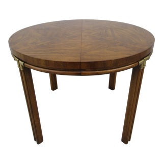 20th Century Campaign Drexel Accolade II Dining Table For Sale