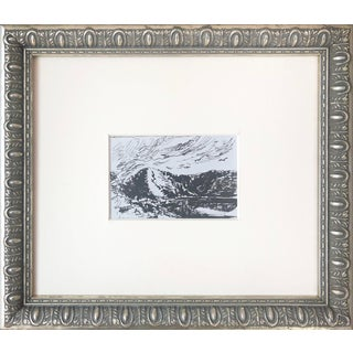 19th Century English Landscape Pen & Ink Drawing For Sale