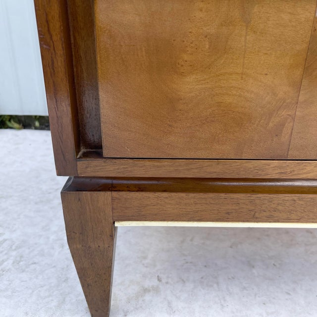 Mid-Century Two Drawer End Table or Nightstand For Sale - Image 9 of 13
