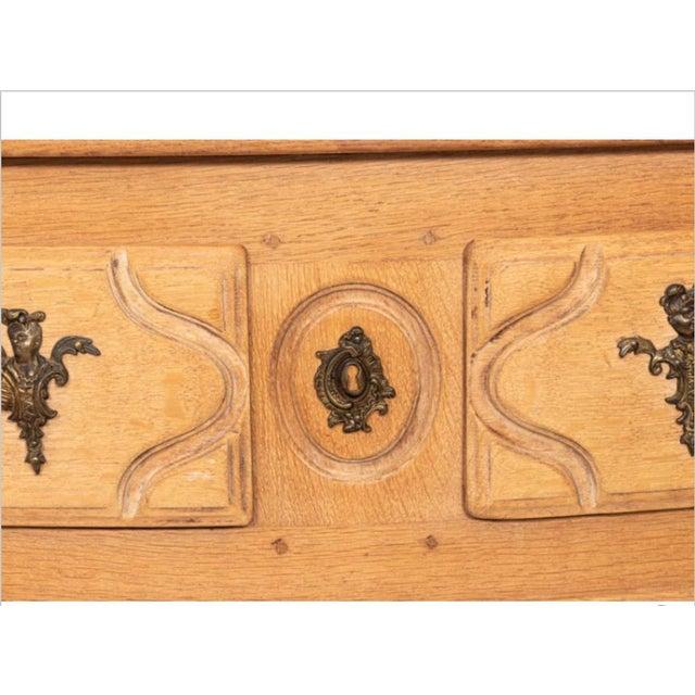 Vintage Bleached Oak Commode For Sale - Image 4 of 10