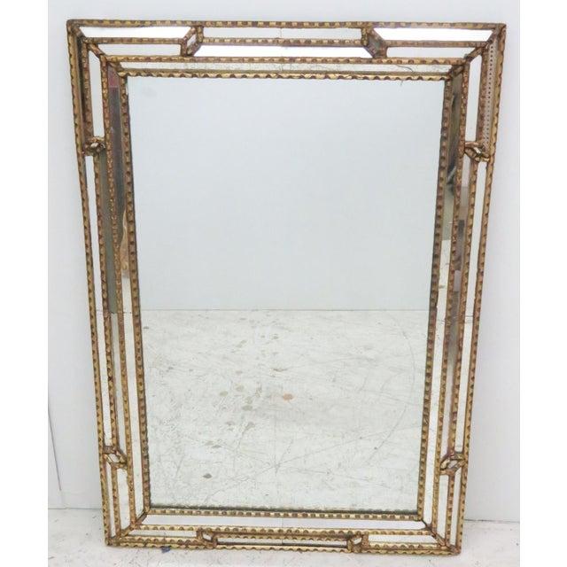 Antique Mirrored & Gilt Framed Mirror | Chairish