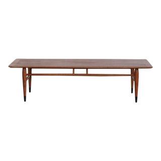 Mid-Century Modern Lane Surfboard Coffee Table For Sale