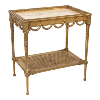 1930s Louis XVI Style Gilt Wood Occasional Table