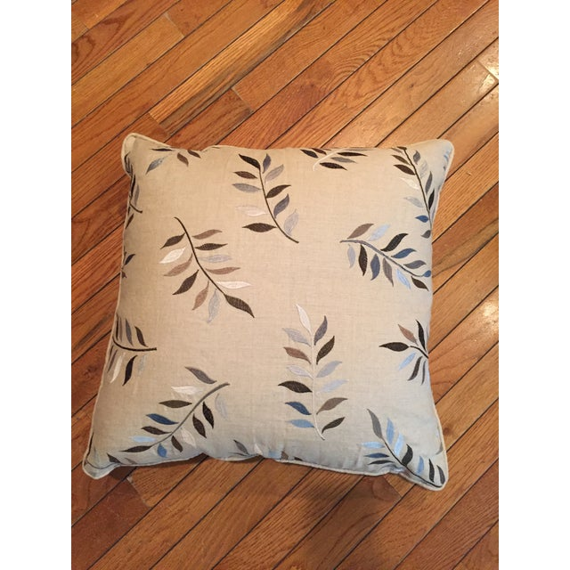 Traditional Autumn Leaves Print Pillows - A Pair For Sale - Image 3 of 7