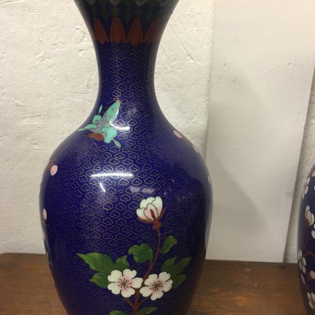 Cloisonné Vintage Vases - A Pair - Image 5 of 8