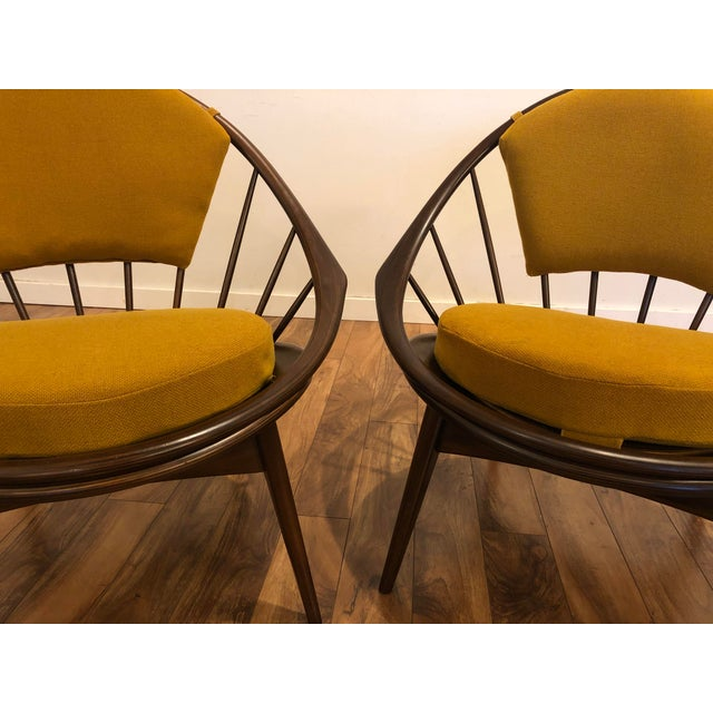 Ib Kofod Larsen for Selig Mid-Century Peacock Lounge Chairs - a Pair For Sale - Image 9 of 13