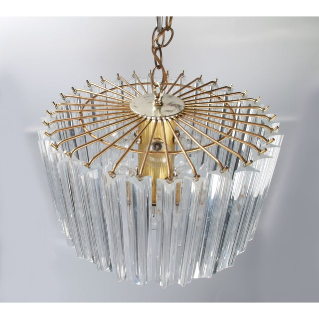 Round Brass & Lucite 11-Light Chandelier - Image 5 of 11