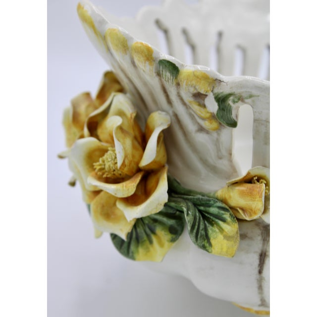 Italian Ceramic Footed Jardiniere For Sale - Image 10 of 13