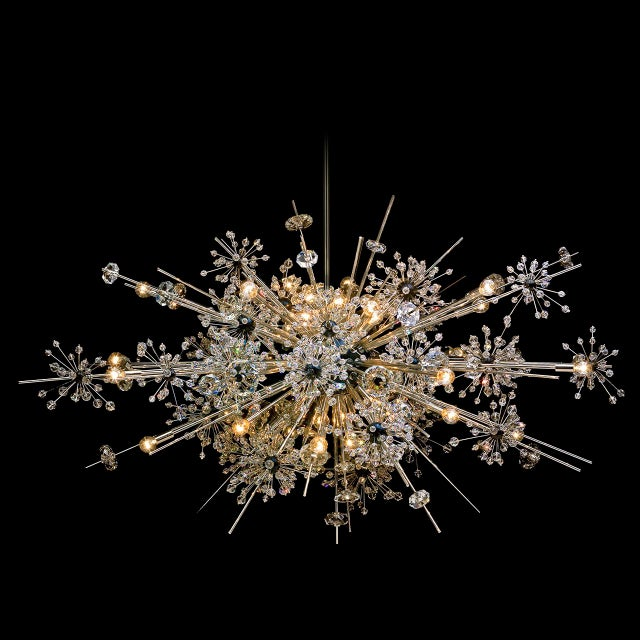 """""""Metropolitan"""" crystal chandelier designed by Hans Harald Rath for the Metropolitan Opera House in New York in 1966. This..."""