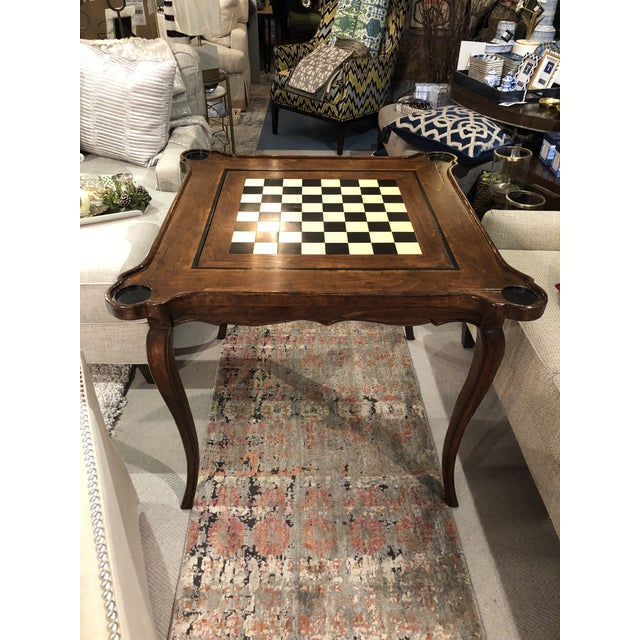 Wood Traditional Sterling Collection French Game Table For Sale - Image 7 of 11