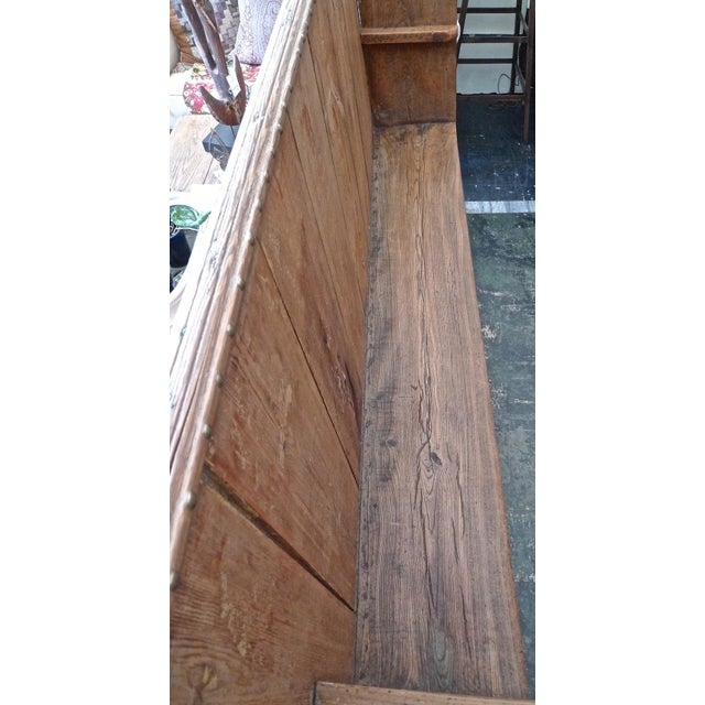 Wood 19th Century English Stained Pine Church Pew For Sale - Image 7 of 12