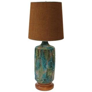 Modern Blue Ceramic Lamp For Sale