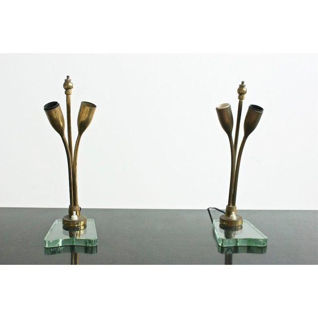 Modern Pair of Tulip Lamps For Sale - Image 3 of 8