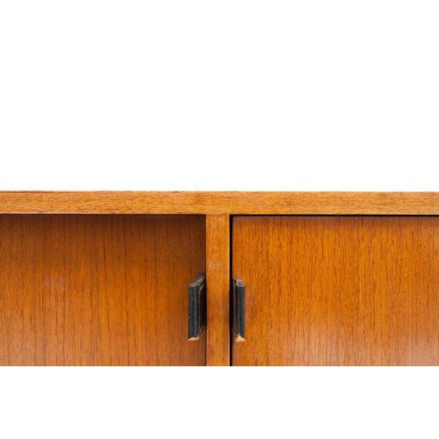 Wood Modern Credenza in Teak by Florence Knoll, Manufactured by De Coene, 1950s For Sale - Image 7 of 11