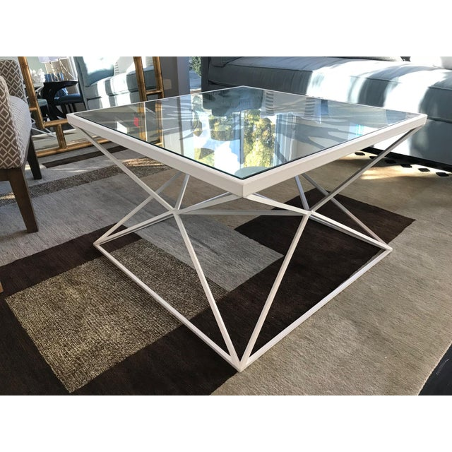 Modern Splash Coffee Table by Jonathan Charles Furniture For Sale - Image 3 of 5