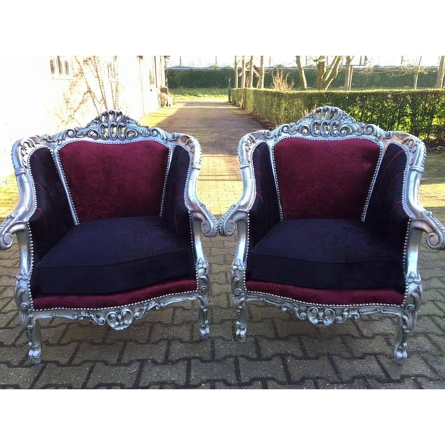 Baroque Style Chairs - Pair - Image 2 of 6