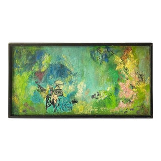 Vintage Abstract Painting - Signed For Sale