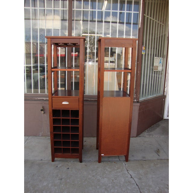 1980s Wooden Wine Cabinets - a Pair For Sale - Image 10 of 11
