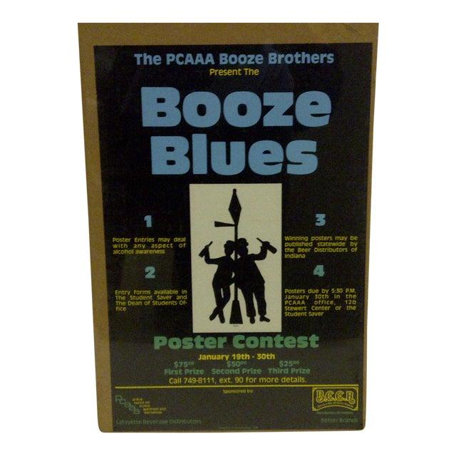 "1980 Vintage ""Booze Blues"" Concert Poster For Sale"