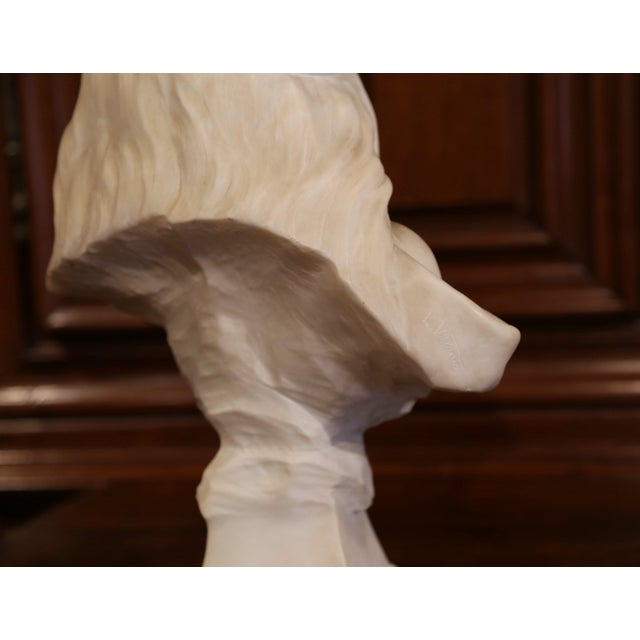 """Marble 19th Century French Marble Bust of Young Beauty """"Miarka"""" Signed E. Villanis For Sale - Image 7 of 10"""
