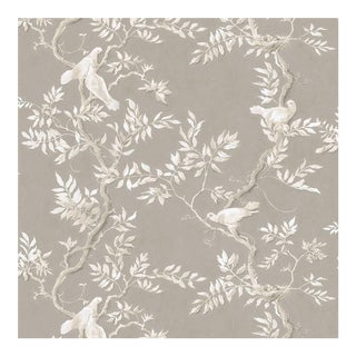 Lewis & Wood Doves Topaz Extra Wide Printed Botanic Style Wallpaper Sample For Sale
