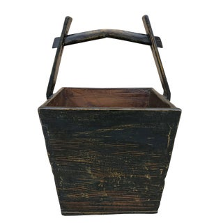 Chinese Lacquered Grain Bucket For Sale
