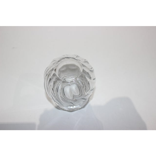 1940s Petit Crystal Vase in Wave Pattern 1940s For Sale - Image 5 of 9