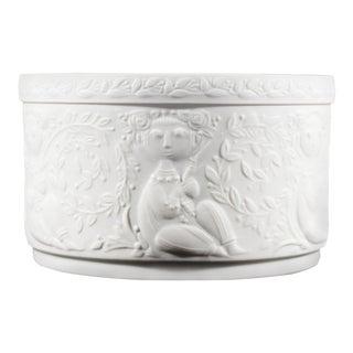 Vintage Bjørn Wiinblad for Rosenthal Studio-Linie Bisque Porcelain Lidded Jar For Sale