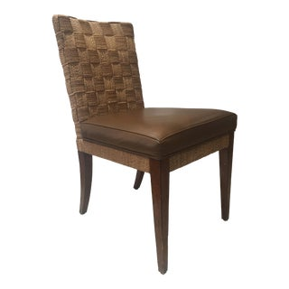 Rustic Country Rattan Ethan Allen Chair For Sale