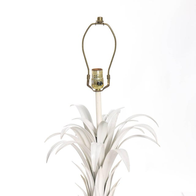 Palm Leaf Tole Lamp For Sale - Image 4 of 10
