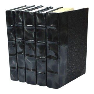 Prismatic Patent Black & Silver Books - Set of 5 For Sale