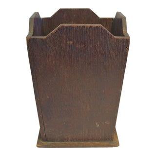 1930s Mission Oak Wastebasket For Sale