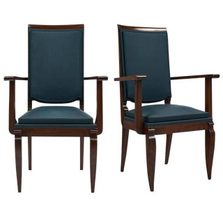 Dominique French Art Deco Period Armchairs- A Pair
