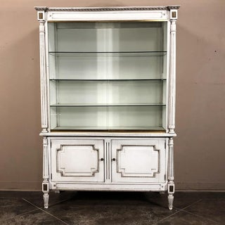 Antique French Louis XVI Painted Store Counter and Display Case Set Preview