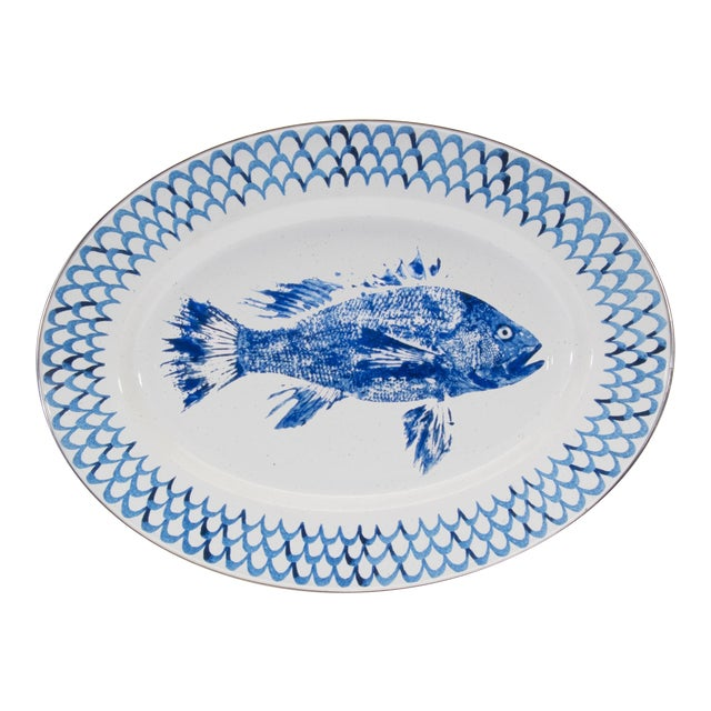 Oval Platter Fish Camp For Sale