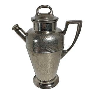 Vintage Art Deco English Pewter Cocktail Shaker Beverage Holder For Sale