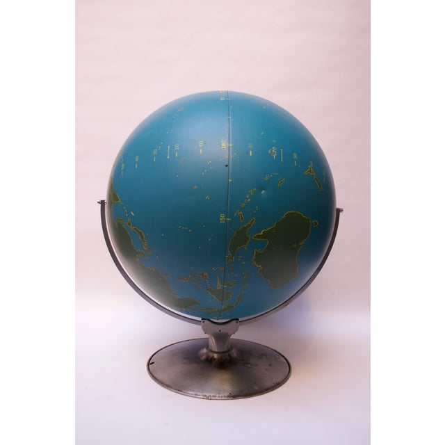 1940s Large-Scale Vintage Military Globe / Activity Globe by a.j. Nystrom For Sale - Image 5 of 13