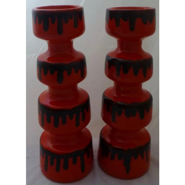 Dayle Rushall California Studio Art Pottery Vases - A Pair For Sale - Image 9 of 10