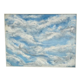 """""""Clouds"""" Oil Painting on Canvas For Sale"""