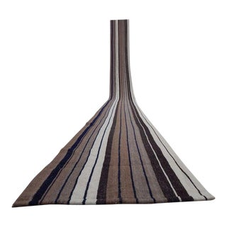 1970s Handmade Vintage Turkish Kilim Rug Runner - 1′10″ × 23′6″ For Sale