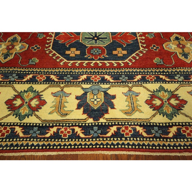 Traditional Super Kazak Rug Red- 8' x 11' - Image 8 of 11