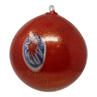 Red Christmas Ornament From Murano For Sale