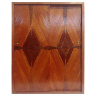 Studio Craft Parquetry Hanging Cabinet, Circa Late 1940s For Sale