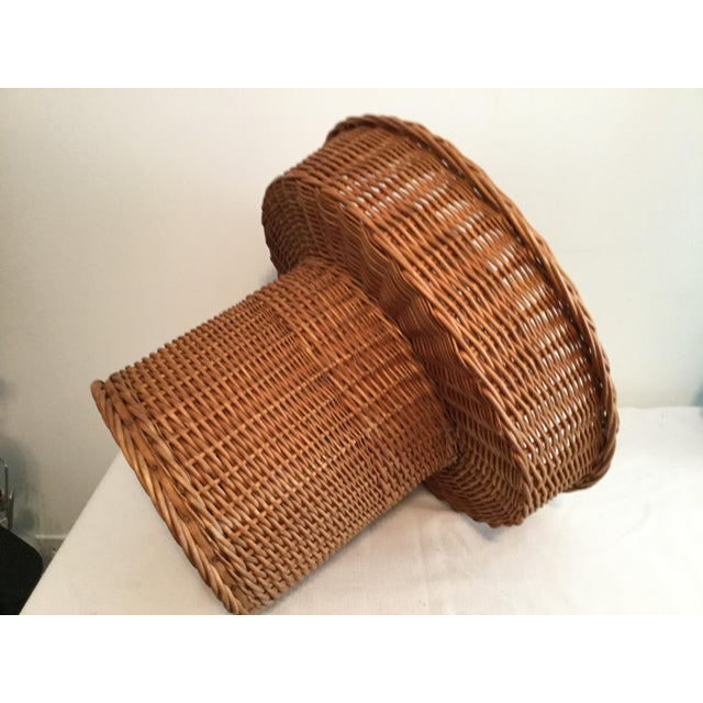 Basket With a Wooden Bottom For Sale - Image 10 of 12