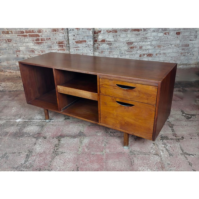 Jens Risom -Danish Mid Century Modern Walnut Credenza-C1950s For Sale - Image 10 of 10
